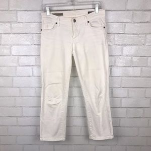 COH Low Waist Cropped White Jeans 27 OO2030